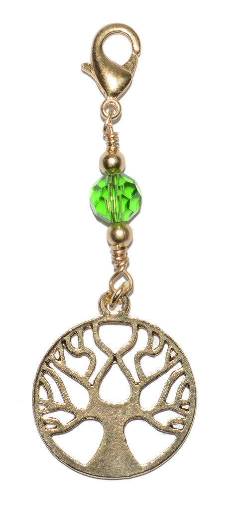 Charm Large Gold - Tree of Life