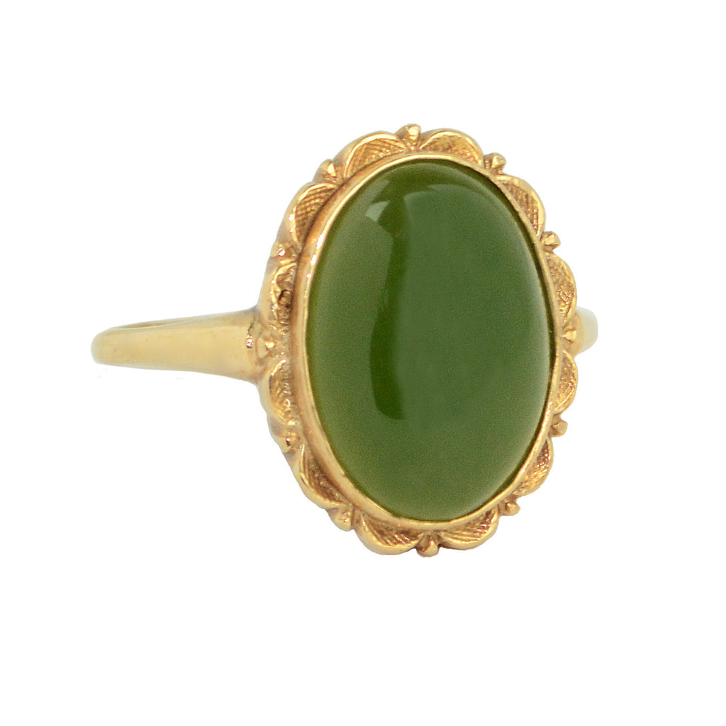 Jade and Gold Ring