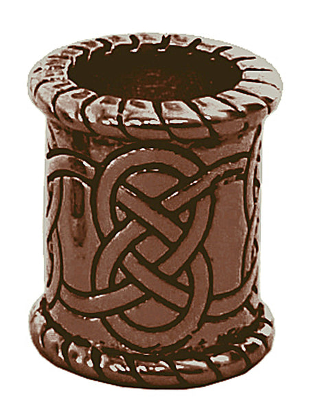 New! Celtic Strength Hair Bead - Copper Wide