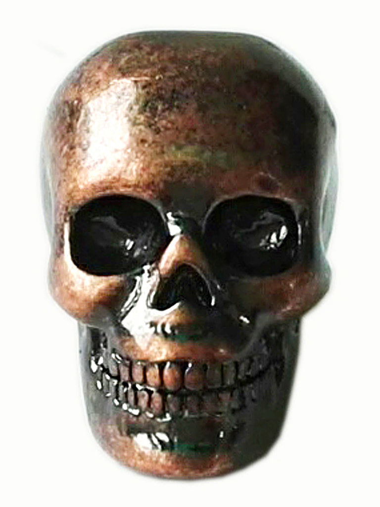 New! Dead Man's Skull Hair Bead - Copper