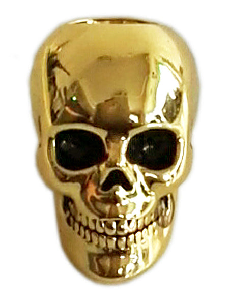 New! Dead Man's Skull Hair Bead - Gold