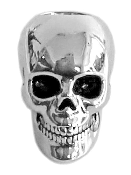 New! Dead Man's Skull Hair Bead - Silver