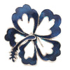 Hair Hook Hibiscus - Blue Ponytail Holder