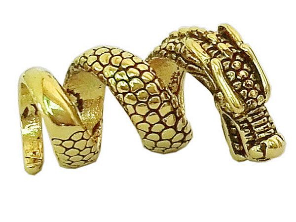 New! Imperial Dragon Hair Bead - Gold - Wide