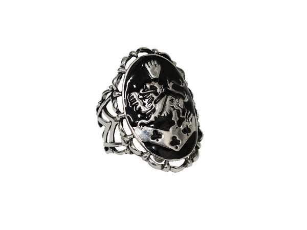 Hair Hook Kingdom Crest 3 Sided- Black Enamel, Ponytail Holder