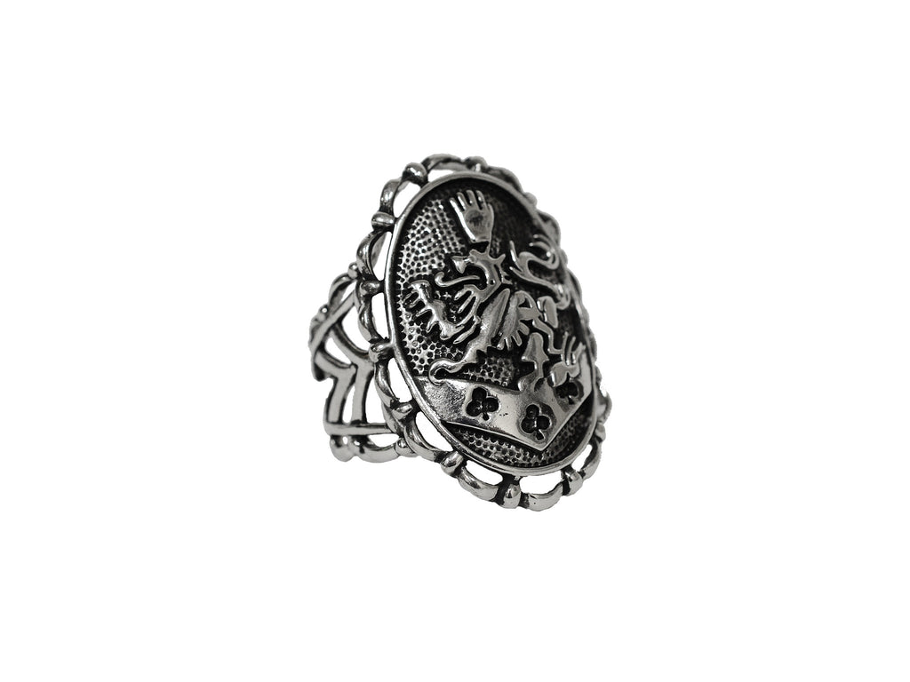 Hair Hook Kingdom Crest 3 Sided- Classic Silver, Ponytail Holder