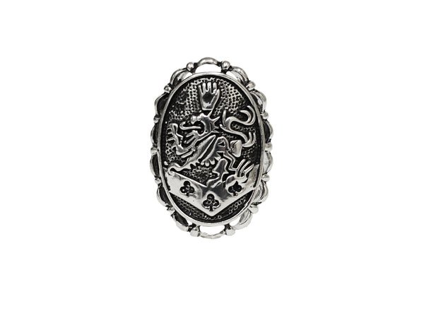 Hair Hook Kingdom Crest - Classic Silver, Ponytail Holder