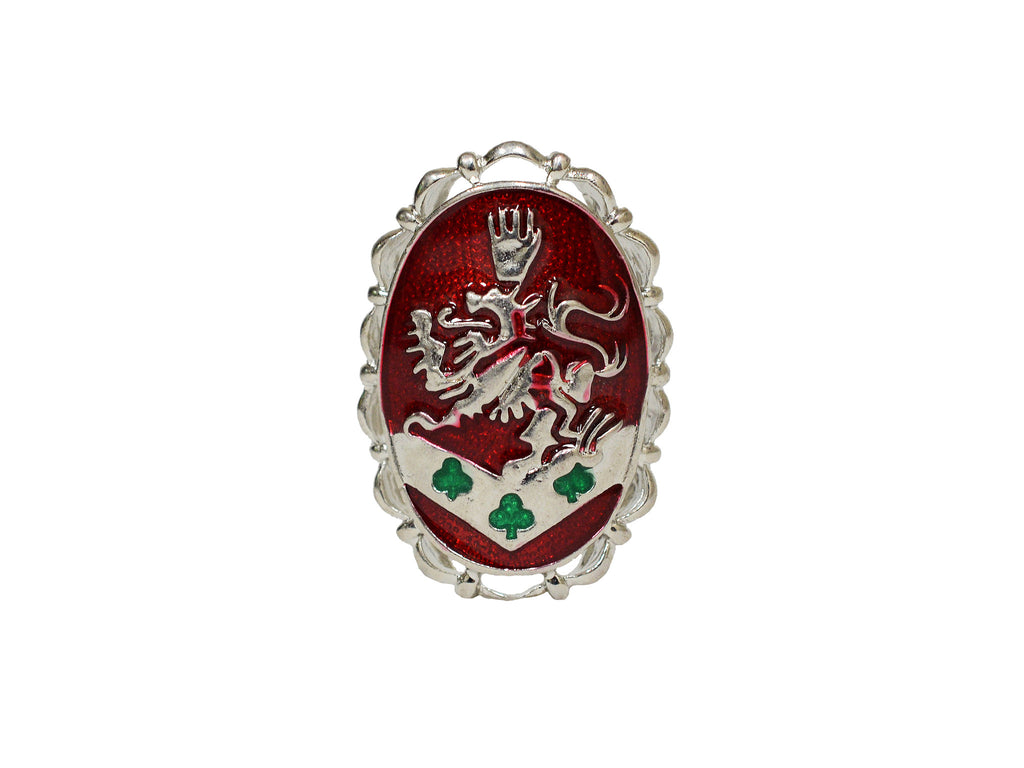 Hair Hook Kingdom Crest - Red Enamel, Ponytail Holder