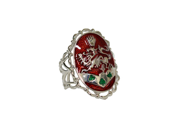 Hair Hook Kingdom Crest 3 Sided- Red Enamel, Ponytail Holder