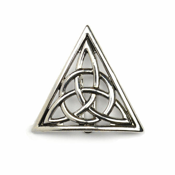 Hair Hook Celtic Triangle - Silver, Ponytail Holder