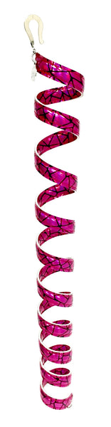 New! Ponytail Wrap Hot Pink Holographic Leather - 12