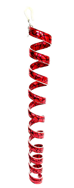 New! Ponytail Wrap Red Holographic Leather - 12