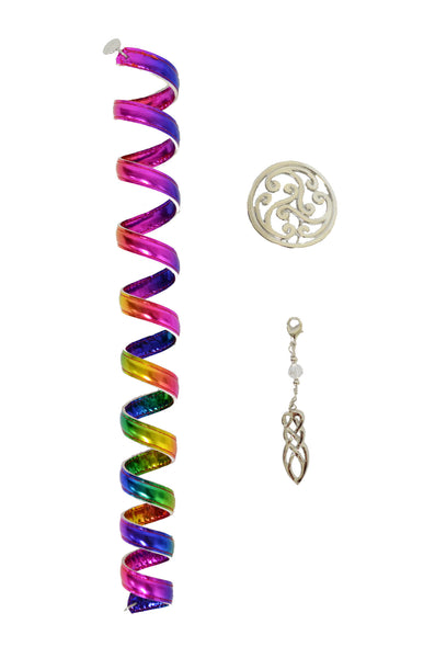 Celtic Rainbow Silver Ponytail Wrap Set - 12