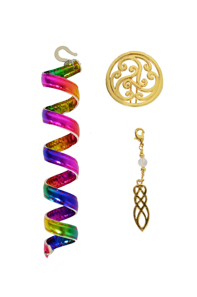 Celtic Rainbow Gold Ponytail Wrap Set - 6