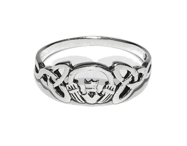 Claddagh Crown Ring - Sterling Silver