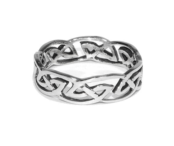 Celtic Barbwire Protection Ring - Sterling Silver