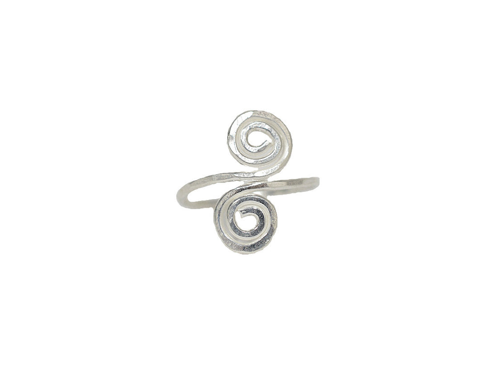 Etruscan Spiral Ring - Sterling Silver