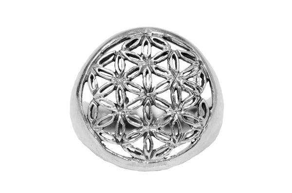 Flower of Life Ring - Sterling Silver