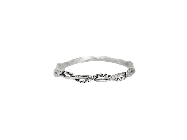 Intertwined Rope Band Ring - Sterling Silver