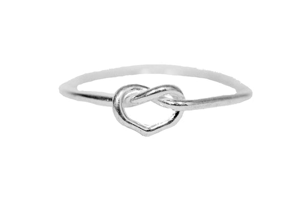 Open Heart Ring - Sterling Silver