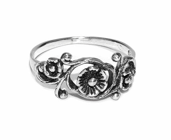 Wild Flowers Ring - Sterling Silver