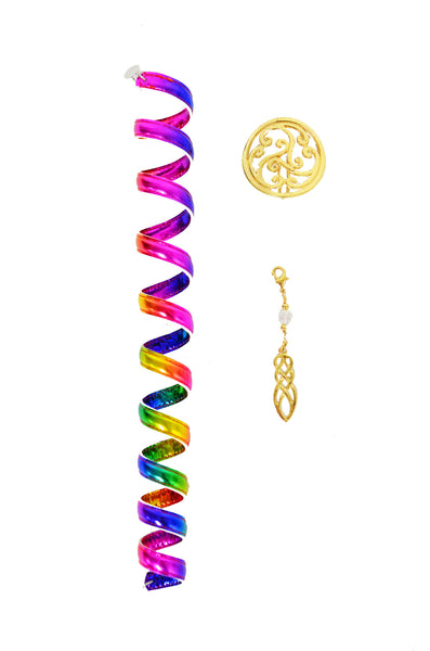 Celtic Rainbow Gold Ponytail Wrap Set - 12