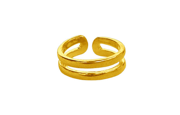 toe ring gold double band