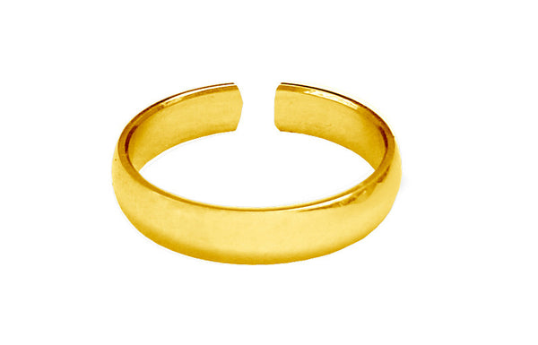 Plain Band Toe Ring - Gold