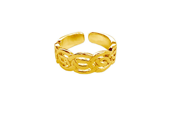 Celtic Woven Toe Ring - Gold