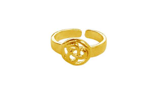 Celtic Eternity Toe Ring - Gold