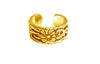 Antique Flower Toe Ring - Gold