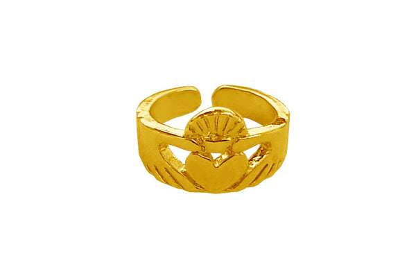 Claddagh Toe Ring - Gold