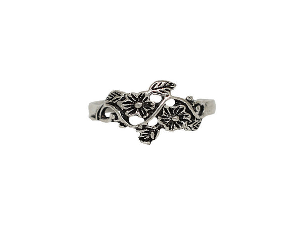 New! Blossom Toe Ring - Sterling Silver