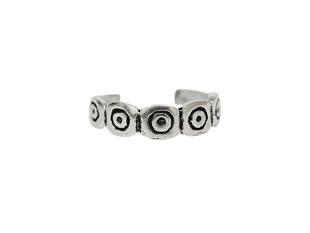 New! Bullseye Toe Ring - Sterling Silver