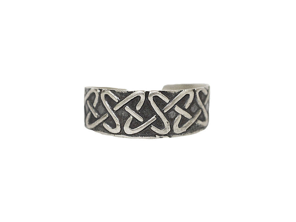 New! Celtic Border Toe Ring - Sterling Silver
