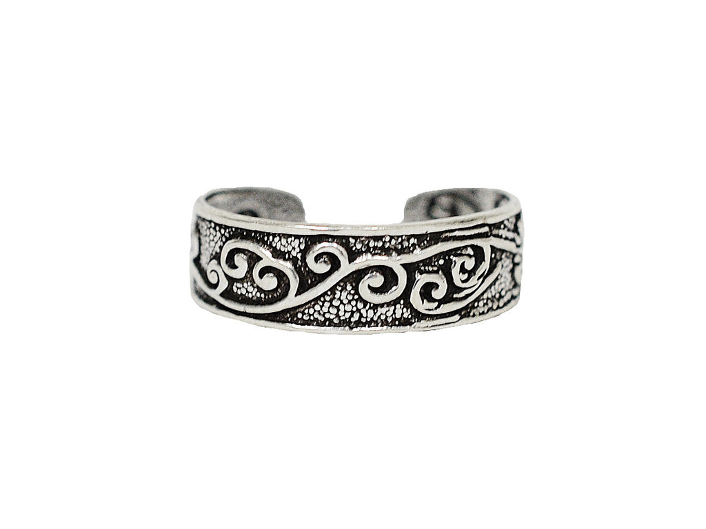 New! Curly Q Toe Ring - Sterling Silver