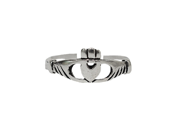 New! Claddagh Thin Band Toe Ring - Sterling Silver