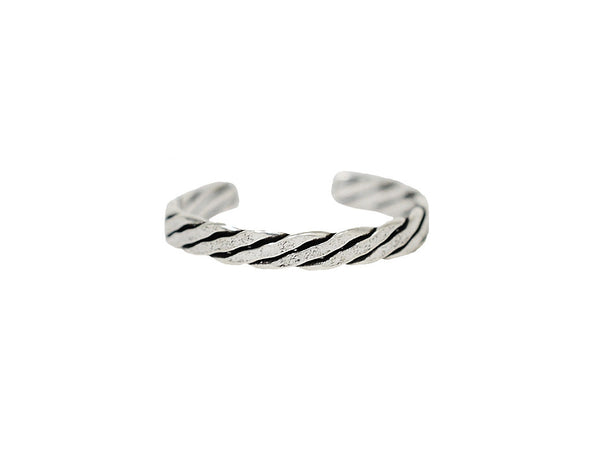 New! Twist Toe Ring - Sterling Silver