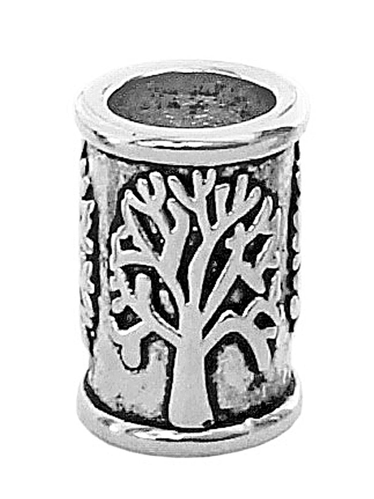 New! Tree of Life Hair Bead - Silver