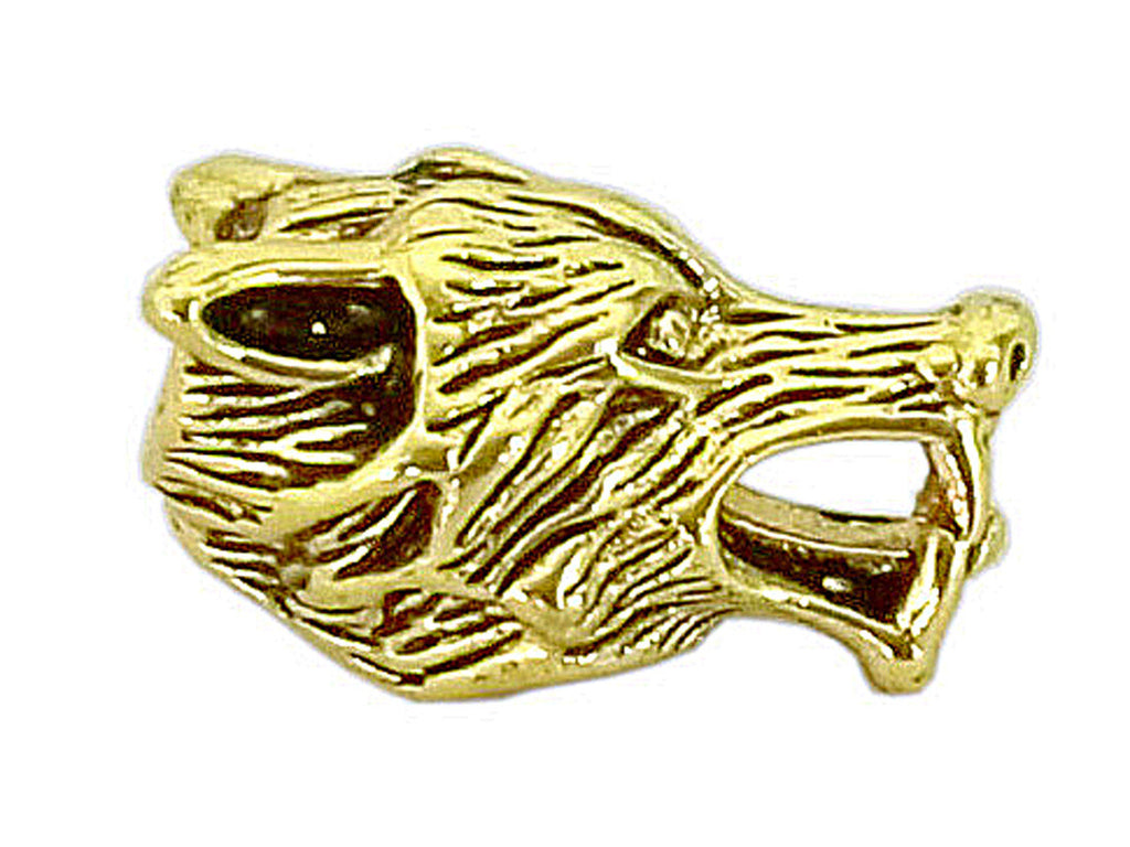 New! Wolf's Head Hair Bead - Gold