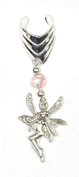 Ear Cuff WIth Charm Fairy - Silver