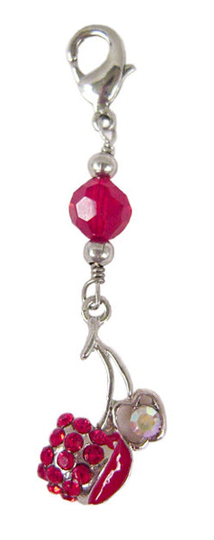 Charm Large Cherry - Silver
