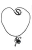 Dragon Holding Magic Ball Silver- Necklace