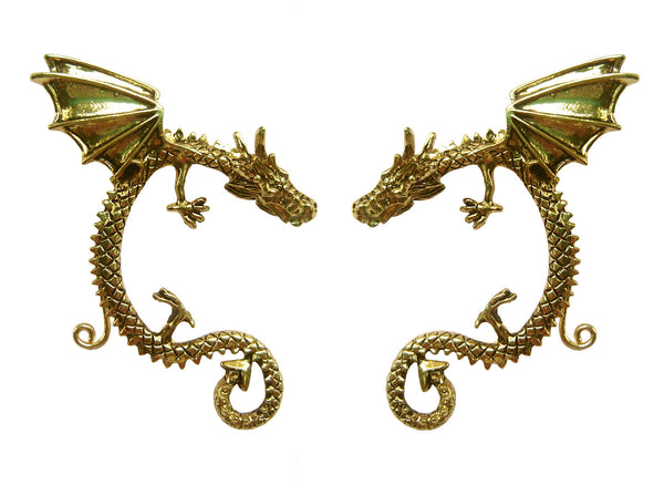 Medieval Metal - Elf Cuff Dragon Wing Gold (EF18-G)