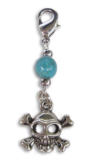 Charm Small Silver - Skull and Cross Bones