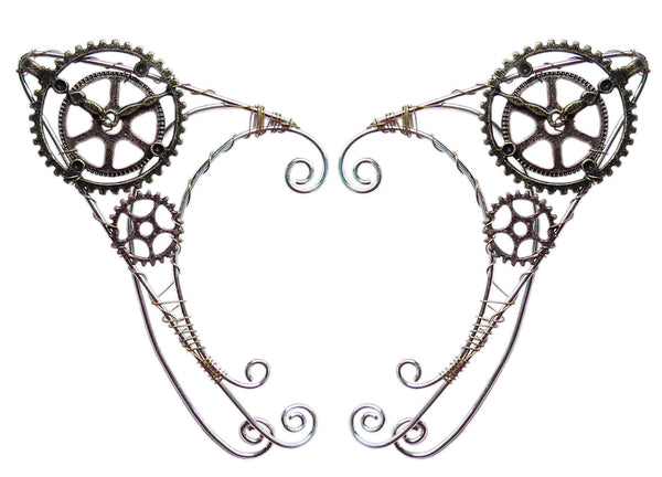 Steampunk Clock Elf Ear Cuff