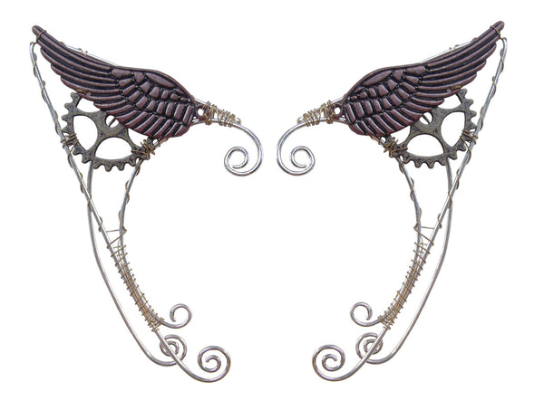 Wild West Wing Steampunk Elf Ear Cuff