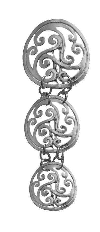 Hair Armor Celtic - Silver Ponytail Holder