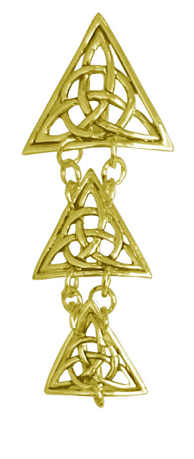 Hair Armor Triangle - Gold Ponytail Holder