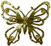 Hair Hook Diamond Butterfly - Gold Ponytail Holder